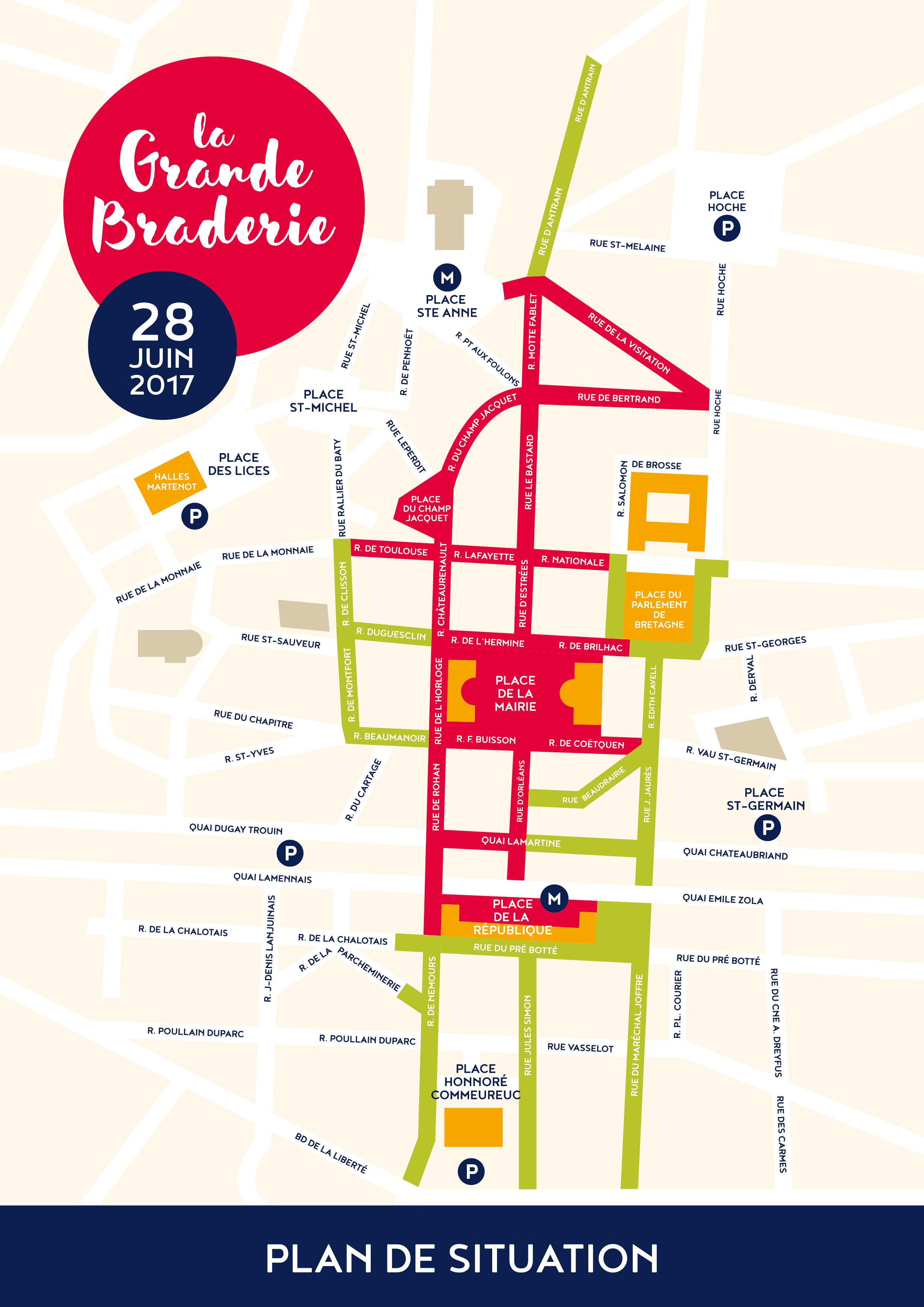 Plan braderie Rennes